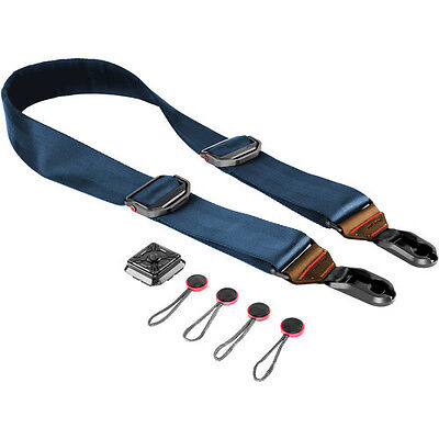 Peak Design Slide Camera Strap (Summit Edition) SL-T-2 Navy with Caramel Leather