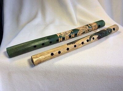 Wooden Flutes Handmade Central America