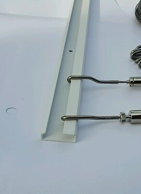 10 Rails-WT 20 cables 20 Hooks Gallery Hanging System