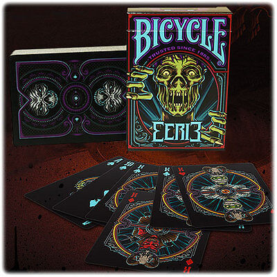 Bicycle Eerie Deck - Purple - Playing Cards - Magic Tricks - New