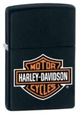 14252-0217 Zippo Harley Davidson Logo Black Matte Windproof Pocket Lighter