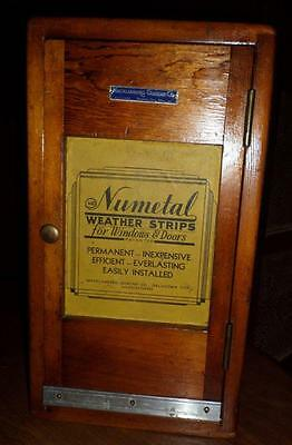 HTF Antique NuMetal Wooden Door Window Weatherstrip Display Salesman Sample DR