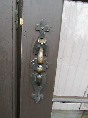 Vintage Entry Interior Door Pull Handle Brass Thumb Latch Set Non Locking