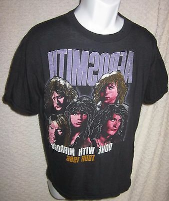 Vintage 1986 Aerosmith Done With Mirrors Tour T-Shirt size adult large