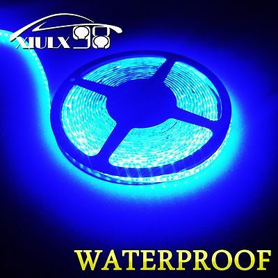 Super Bright Ultra Blue 5M 3528 Waterproof Flexible LED Strip Light 300Leds 12V