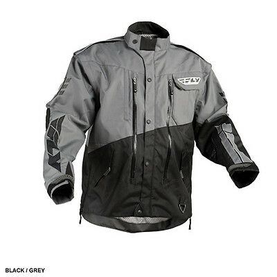 Fly Racing Patrol MX BMX motorcycle jacket adult men medium gray black 366-680M