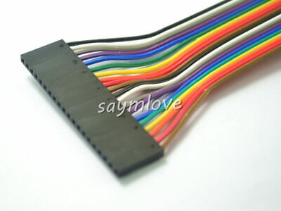 5pcs New 20pin 20cm 2.54mm Female to Female jumper wire Dupont cable for Arduino