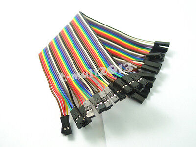 20pcs New 2.54mm 2P 20cm Female to Female Dupont Jumper Wire Cable for Arduino