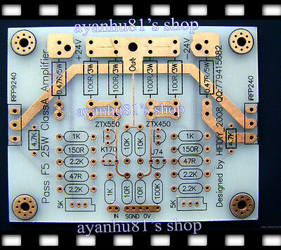 Bare PCB Board For PASS F5 25W Class A Amplifier Audio Power Amp