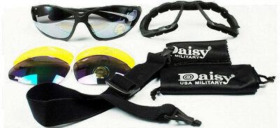 Clay Pigeon C4 Shooting Glasses /Tactical Airsoft glasses + 4 Coloured Lenses