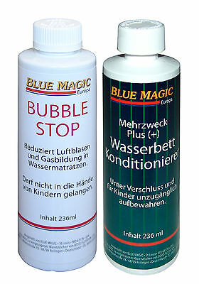Blue Magic Wasserbett Pflegeset 1x Bubble Stop 1x Conditioner je 236ml Pflege