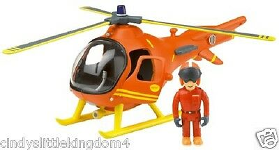 Fireman Sam Friction Mountain Rescue Helicopter & Tom articulated figure Toy