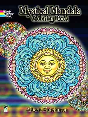 Mystical Mandala Coloring Book Design Adult Ladies Men Stress Relief Art Heals