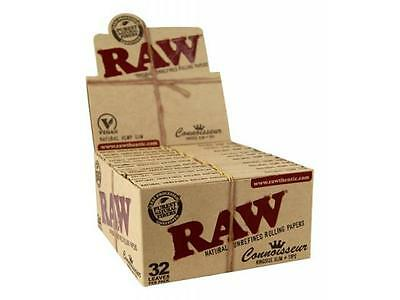 5 Booklets RAW Organic Hemp Connoisseur King Size Slim + Tips Rolling Papers
