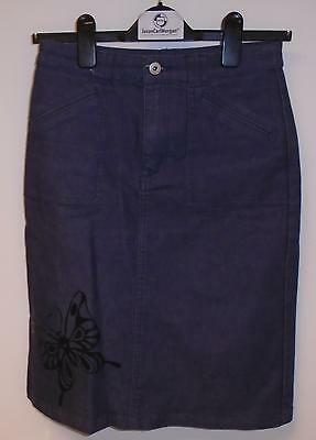 Used Girls H&M Denim Butterfly Skirt Size 13A Years (S.P)