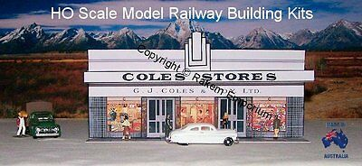 HO Scale Shop G J Coles Store Building - Model Railway Building Kit GJC1