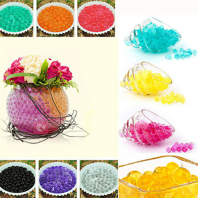 Fine 500PCS Crystal Mud Soil Water Beads Bio Gel Ball For Flower Weeding Decor