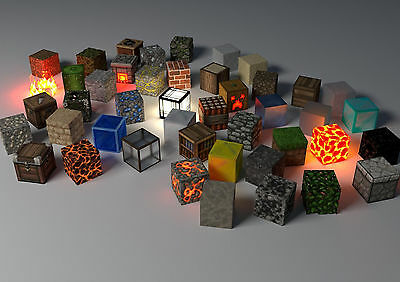 Sticker Autocollant Poster A4 Jeux Video Games Minecraft Multi Cube.