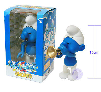 6 inches Height Smurfs of Harmony Smurf with a Trumpet in hand by Matt Technics