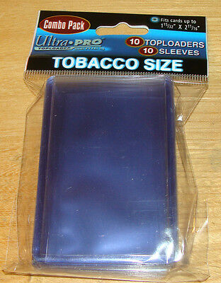 Ultra Pro Package of 10 Tobacco Toploaders Plastic Card Sleeves 1 15/32x2 11/16