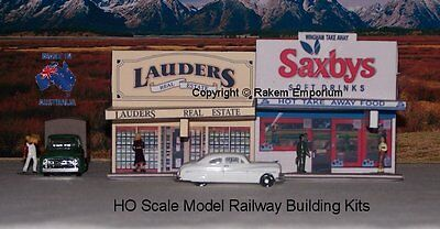 HO Scale Twin Shops Wingham NSW Model Railway Building Kit TSWV1