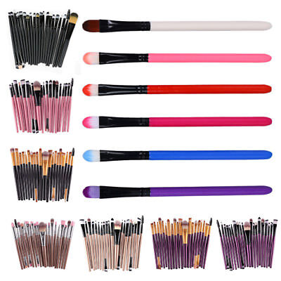 Set 20 Pennelli Per Trucco makeup Eyeliner brush Labbra Cosmetica Lip