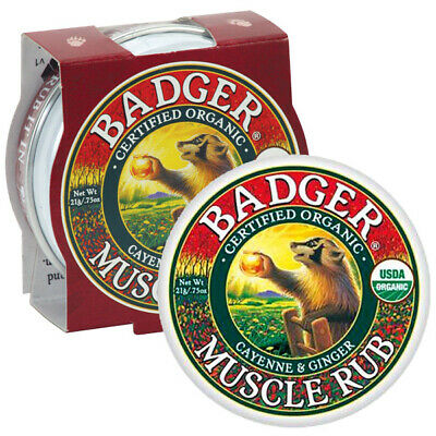 Badger Balm - Mini Sore Muscle Rub Cayenne & Ginger Hand Cream 21g