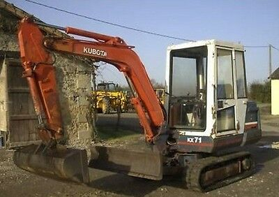 Kubota Kx36 To Kx151 Excavator Service Manual On Cd *free Postage*