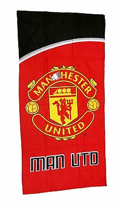 Manchester United Football Club Velour Beach Towel - Official Man Utd Motion