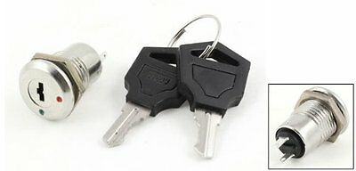 uxcell AC 250V 0.5A 2 Terminals On Off Tubular Key Lock Switch