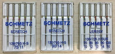 Schmetz Stretch/Jersey Machine Needles 130/705HS(UK) (5 pack - pick a size/type)