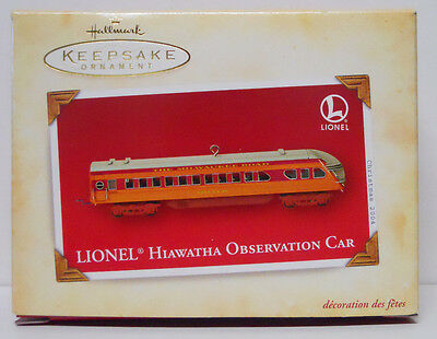 2004 Hallmark Keepsake Ornament Lionel Hiawatha Observation Car-QXI4104