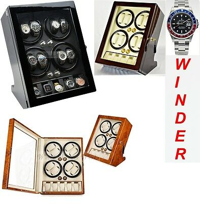 Luxury Display Automatic Watch Winder For 8 Watches +5 model: BisQuadra-5BK