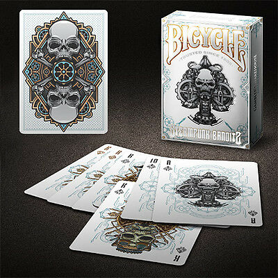 Bicycle Steampunk Bandits Deck - White - Playing Cards - Magic Tricks - New