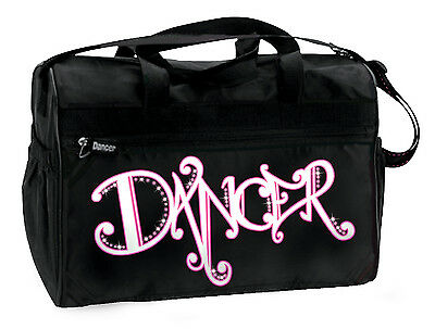 "New Dansbagz Black ""Bling Dancer"" Bag with Pink Rhinestones"