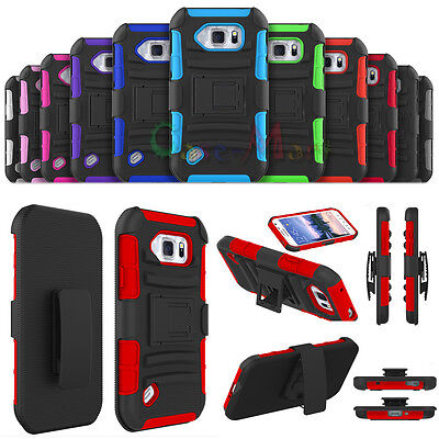 HQ Shockproof Hard Rugged Kickstand Armor Case For Samsung Galaxy S6 Active G890