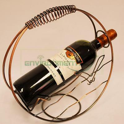 Abstract Loop Metal Wine Rack Bottle Glass Holder Table Stand Carrier Homeware • AUD 27.99