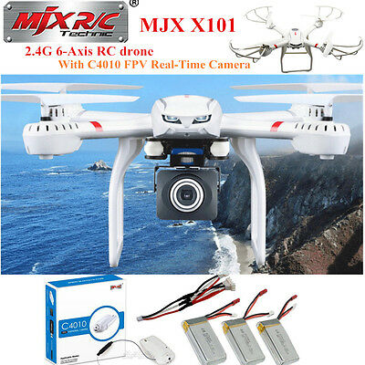 MJX X101 RC Drone Quadcopter 6 Axis helicopter with C4010 HD camera+battery