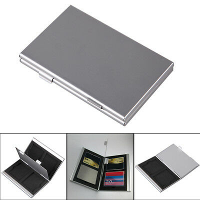 Aluminum Memory Card Protecter Box Storage Case Holder for 4 CF SD Compact Flash