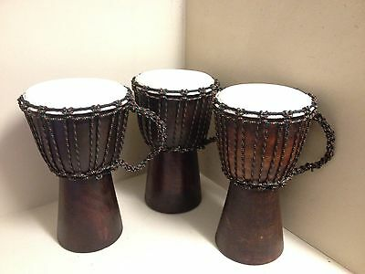 Unique Individually Hand-Made Djembe Drum (30cm) with Cord Handle