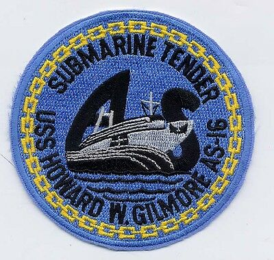 USS Howard W. Gilmore AS 16 - Submarine - BC Patch Cat No. b530