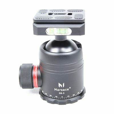 Marsace DB-3 48mm Robust Ball Head with Arca Swiss QR Plate - Max Loading 12 Kg