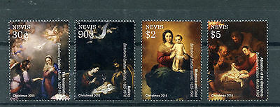 Nevis 2015 MNH Christmas Bartolome Esteban Murillo Paintings 4v Set Nativity