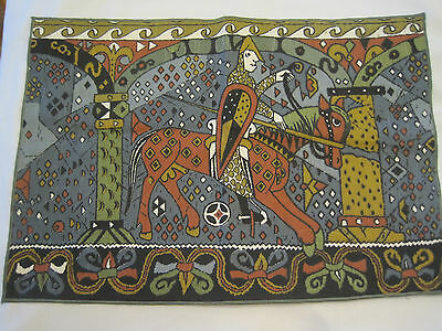 Leif Thesen Oslo Norway Viking Placemat Norse Mythology Odin Horse Man Cotton