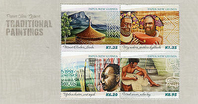 Papua New Guinea 2015 MNH Traditional Paintings 4v M/S Art Mount Elimbari