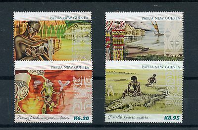 Papua New Guinea 2015 MNH Traditional Paintings 4v Set Arawe Mother Child Art