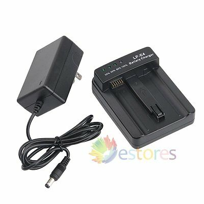 100-240V LP-E4 Battery Charger Smart Charging LED US plug For Canon EOS Camera