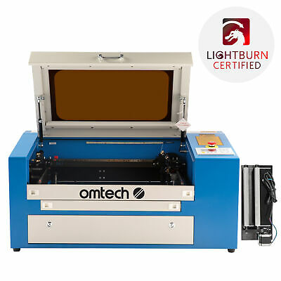 New 50W CO2 Laser Engraving Machine Engraver Cutter with Auxiliary Rotary