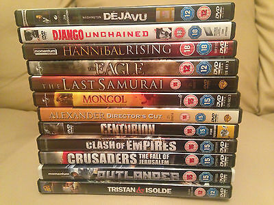 Dvd Bundle Django,hannibal,empires,alexander,centurion,crusaders,outlander