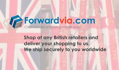 Shop at any UK stores and we forward your package to you worldwide.$8 for 3boxes